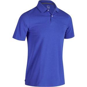 Golf Poloshirt 500 Kurzarm Herren blau meliert