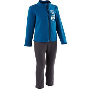 Trainingsanzug 100 Gym Warm´y Reißverschluss Baby blau bedruckt