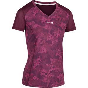 T-Shirt Soft 500 Tennisshirt Damen bordeaux