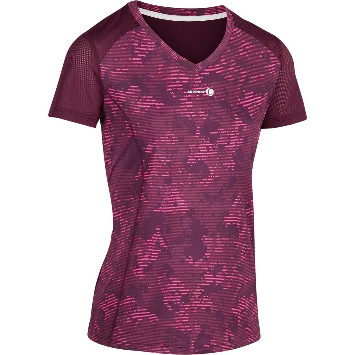 Bild 1 von T-Shirt Soft 500 Tennisshirt Damen bordeaux