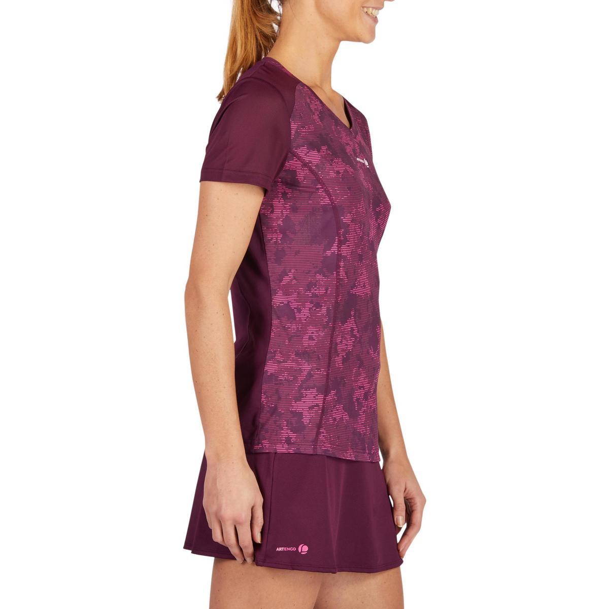 Bild 2 von T-Shirt Soft 500 Tennisshirt Damen bordeaux