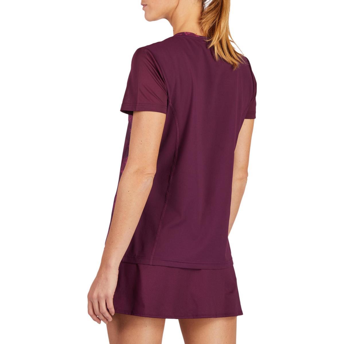 Bild 3 von T-Shirt Soft 500 Tennisshirt Damen bordeaux