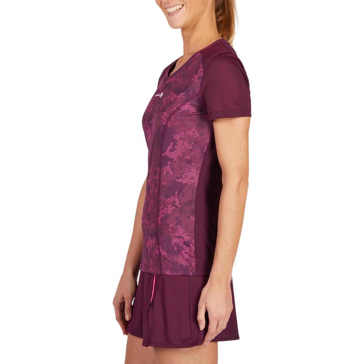Bild 4 von T-Shirt Soft 500 Tennisshirt Damen bordeaux