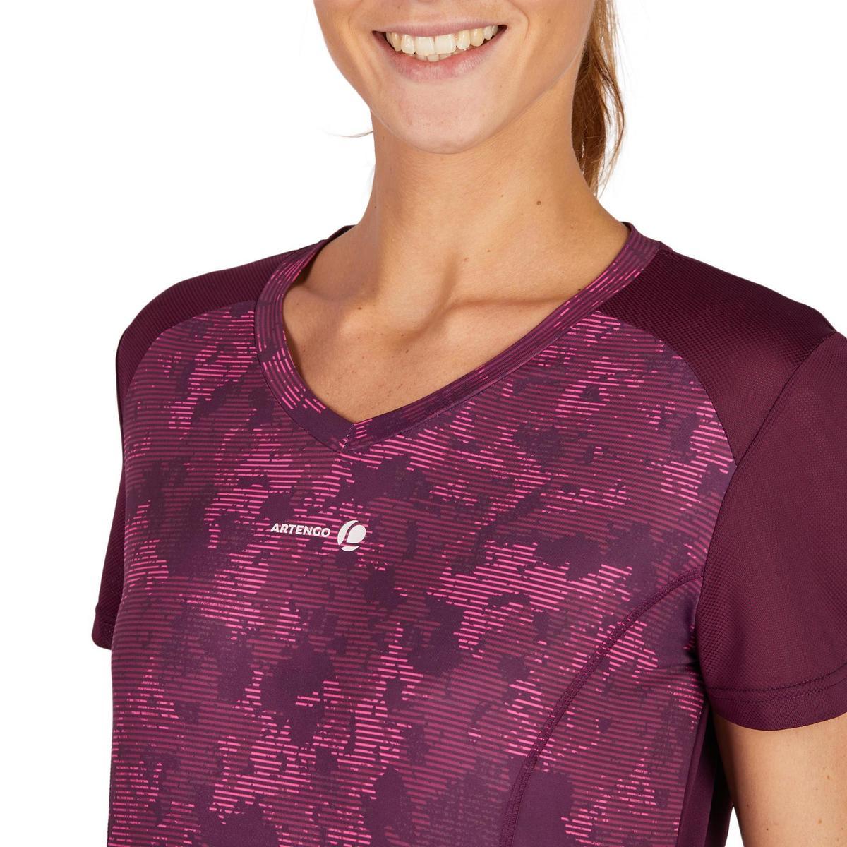 Bild 5 von T-Shirt Soft 500 Tennisshirt Damen bordeaux