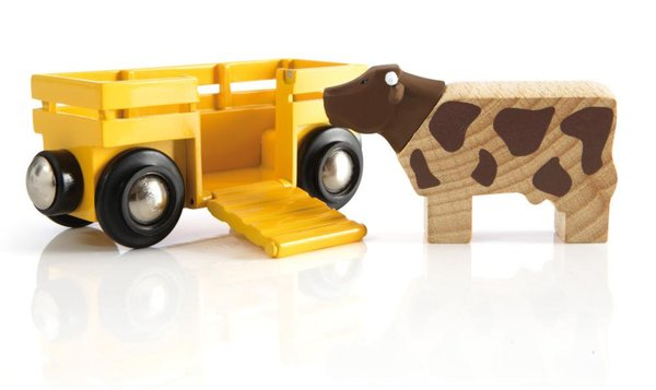 BRIO Tierwagen mit Kuh