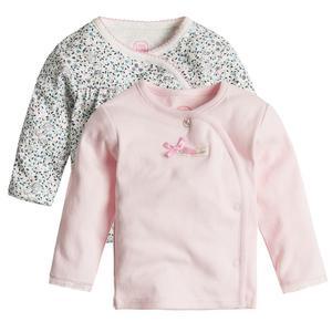 Baby Wickelshirt 2er Pack für Mädchen