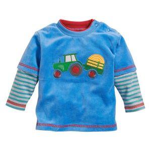 SCHNIZLER   Nicki-Shirt langarm Traktor