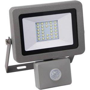 LED-Strahler mit Sensor Fluter Flare 20 W Silber EEK: A+