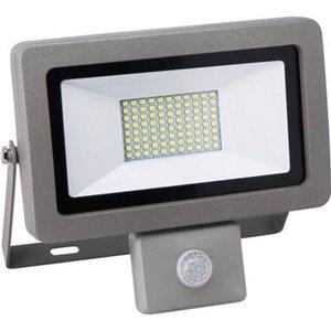 LED-Strahler mit Sensor Fluter Flare 30 W Silber EEK: A+