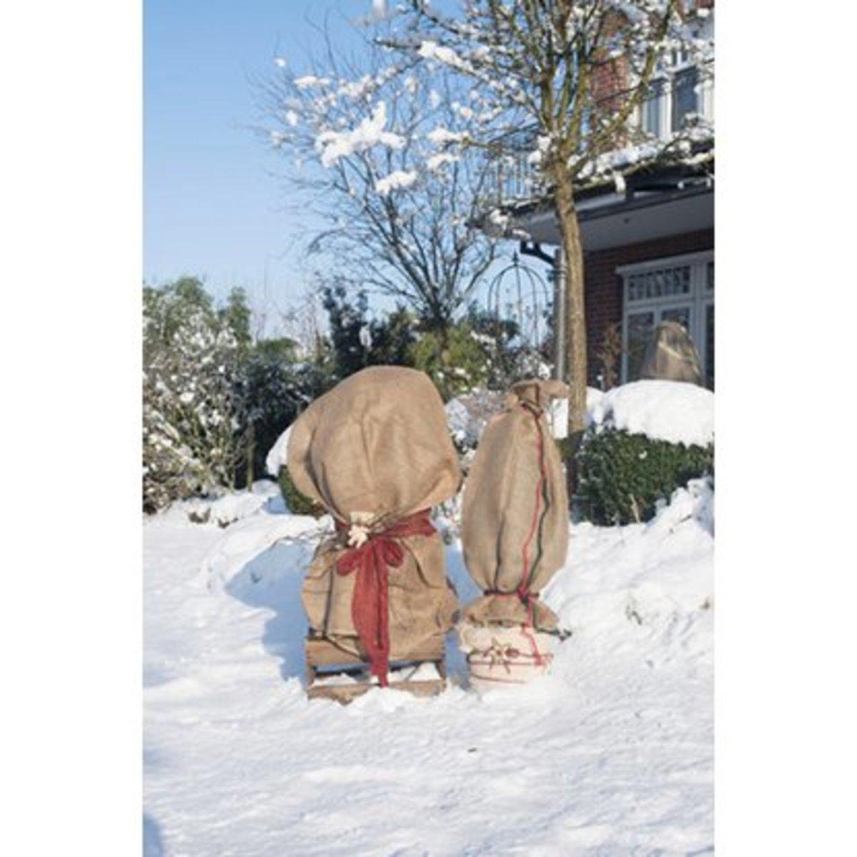 Bild 2 von Videx Garden Winterschutz Jutesack Natur 60 cm x 80 cm