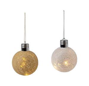 LED-Zwirnkugel mit schönem Licht, Ø ca. 10cm