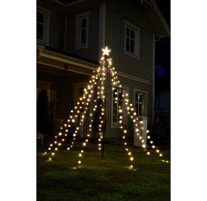 LED-Fahenmast-Lichterkette, ca. 2,3m