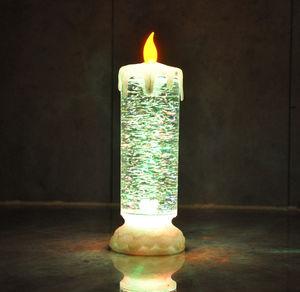 LED-Glitzerkerze mit Farbwechsel, ca. 9x24cm