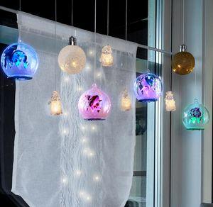 LED-Weihnachtskugel aus Glas, Ø 12cm