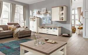 set one by Musterring - Wohnwand York in Pino-Aurelio-Nachbildung/Eiche-Nelson-Nachbildung