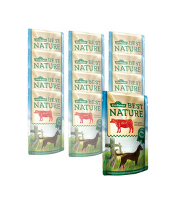 Dehner Best Nature für Hunde, Adult, Nassfutter, 12 x 150g