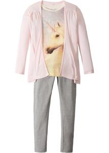 Shirt + Cardigan + Leggings (3-tlg.)