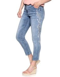 PUNT ROMA - 7/8 Jeans mit Stickerei