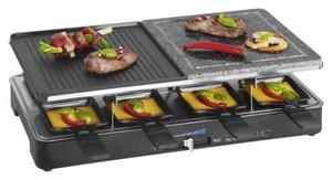 Clatronic 2 in 1 Raclette-Grill RG 3518 ,  Heißer Stein und Raclette