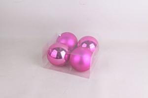 TrendLine Kugeln ,  bruchfest 4 Stück - 10 cm Ø, pink