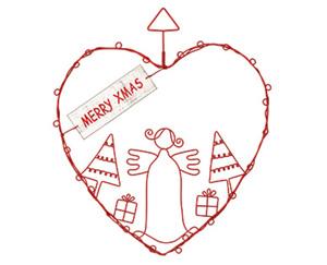 CASADeco Weihnachtlicher Drahtanhänger