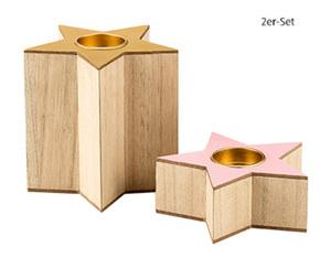 CASA Deco Pastell-Holzdekoration