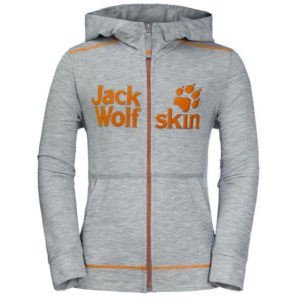 Jack Wolfskin Fleecejacke Kinder Redland Jacket 140 grau