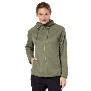 Jack Wolfskin Fleecejacke Frauen Tongari Hooded Jacket Women S grün