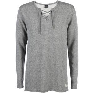 Herren Sweatshirt mit geschnürtem Ausschnitt