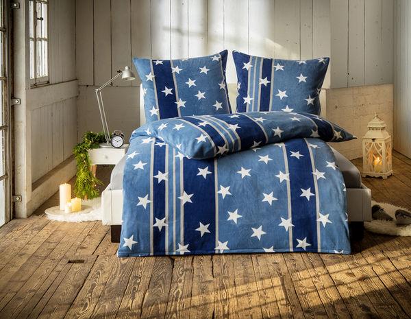 Dreamtex Nicki Bettwäsche Sterne 135x200cm Blau Von Norma