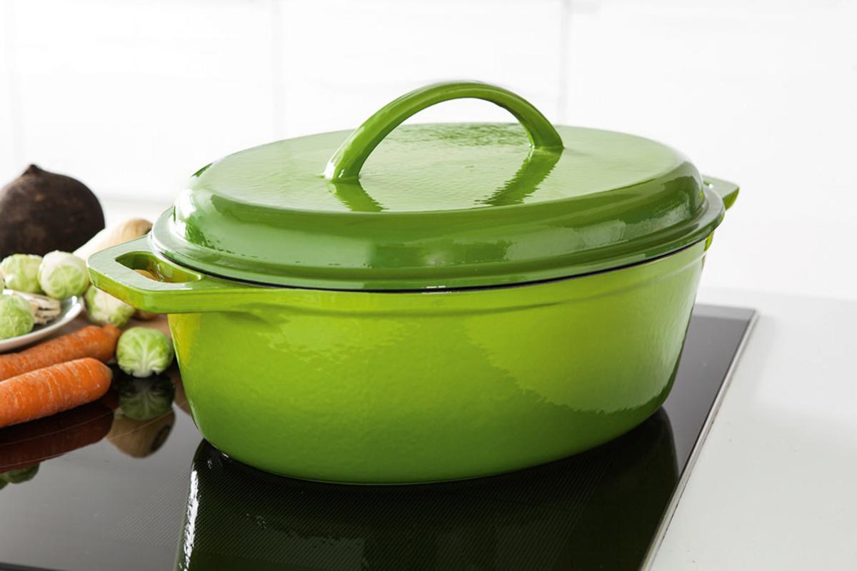 Bild 1 von Casa Royale Gusseisen-Bräter ca. 7 Liter - grün
