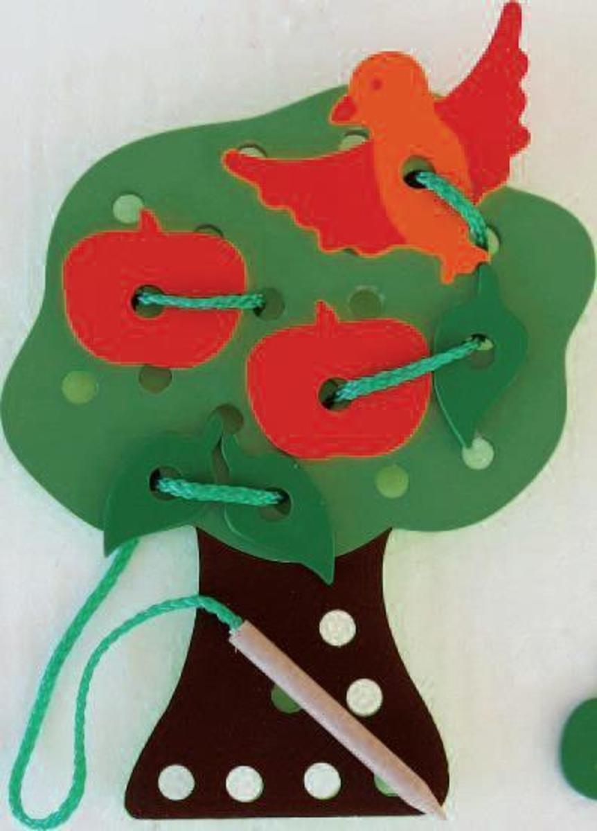 Bild 2 von Coemo Fädelspiel Anzieh-Puppen aus Holz