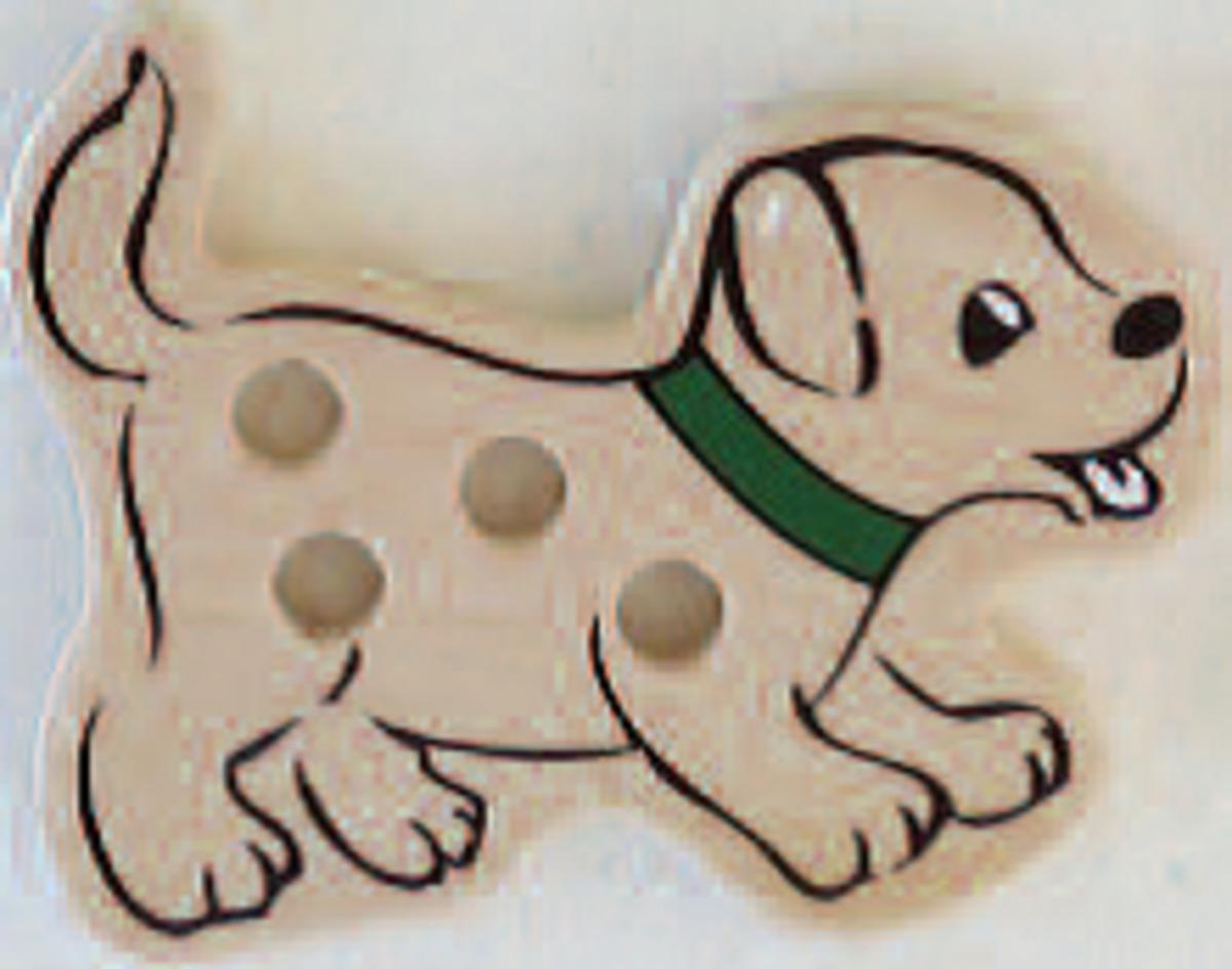 Bild 3 von Coemo Fädelspiel Anzieh-Puppen aus Holz