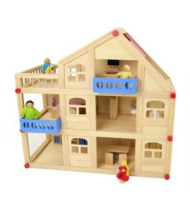 Coemo 3-stöckiges Puppenhaus aus Holz