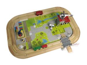 Coemo Autobahn Holz Schienen Set 100 Teile