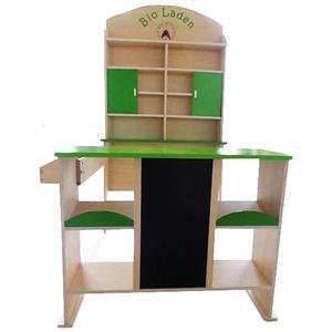 Kaufladen BIO-Laden aus Holz für Kinder