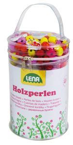 LENA® Holzperlen Tasche,pink