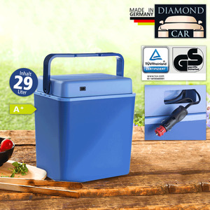 Diamond Car Elektro Kühlbox 29 Liter, blau
