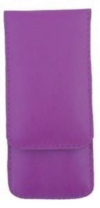 3F Lederetui (Rindleder) 3-tlg. mit Druckknopf, lila