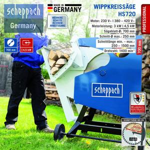 Scheppach Wippkreissäge HS720, 400 V