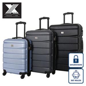 Hartschalenkoffer Koffer S: 54 cm/2,9 kg/46 Liter, Koffer M: 66,5 cm/4,1 kg/78 Liter für 39,95 €, Koffer L: 76,5 cm/4,5 kg/115 Liter für 49,95 €