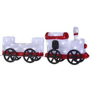 LED-Lokomotive mit Anhänger - mit 72 LEDs - ca. 64 cm lang
