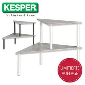 Küchen-Eckregal - in Schwarz oder Weiß - Maße: ca. H 38,0 x B 53,5 x T 38,0 cm, je