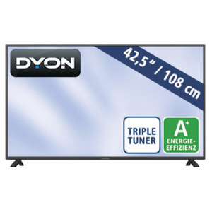"43""-FullHD-LED-TV LIVE 43 Pro • H.265, 3 HDMI-Eingänge • USB-/CI+-Anschluss • Stand-by: 0,5 Watt, Betrieb: 54 Watt • Maße: H 55,4 x B 96,6 x T 9,0 cm • Energie-Effizienz A+ (Spektrum A+"