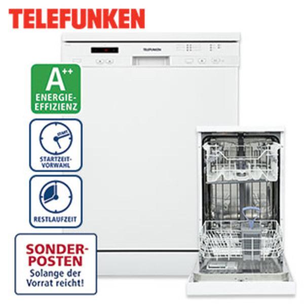Geschirrspüler TFS31TF60W2 • für 12 Maßgedecke • höhenverstellbarer Oberkorb • Maße: H 85, 0 x B 59, 8 x T 59, 8 cm • Energie-Effizienz A++ (Spektrum: A+++ bis D), auch erhältlich: Gesc