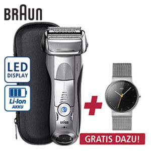 Rasierer Series 7 Limited Edition • 5 Rasiermodi für eine individuelle Rasur • 4 synchronisierte Rasierelemente • Präzisionstrimmer • 1 Stunde Ladezeit für ca. 50 min Rasierdauer + gratis