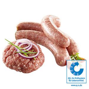 Gewürztes Schweinemett (Thüringer Mett/Hackepeter) oder frische grobe Bratwurst je 1 kg