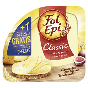 Fol Epi Französischer Hart- und Schnittkäse, 50 % Fett i. Tr., versch. Sorten, jede 171-g-Packung