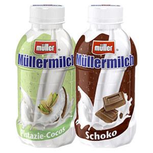 Müllermilch versch. Sorten, jede 400-ml-Flasche