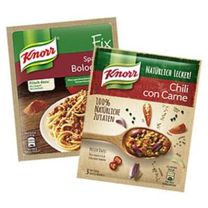 Knorr Fix oder Knorr Natürlich Lecker Fix versch. Sorten, jeder Beutel